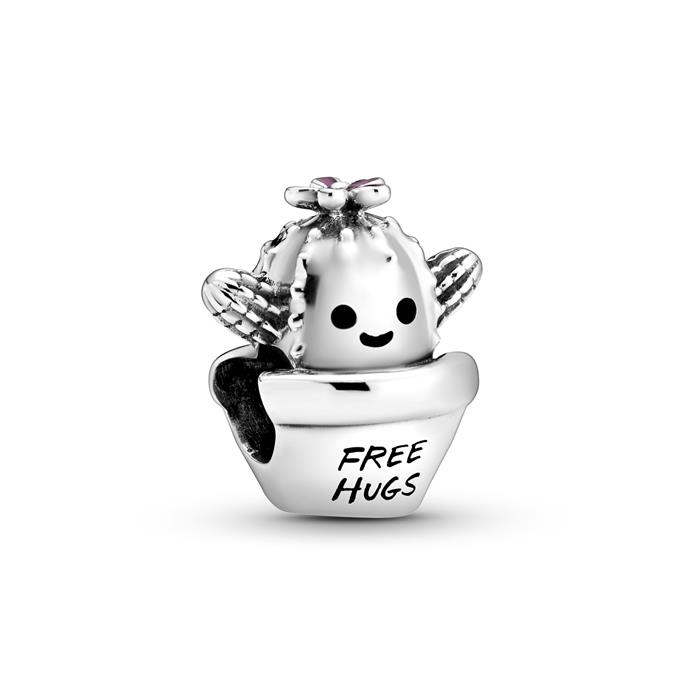 Kaktus Charm Free Hugs aus 925er Silber