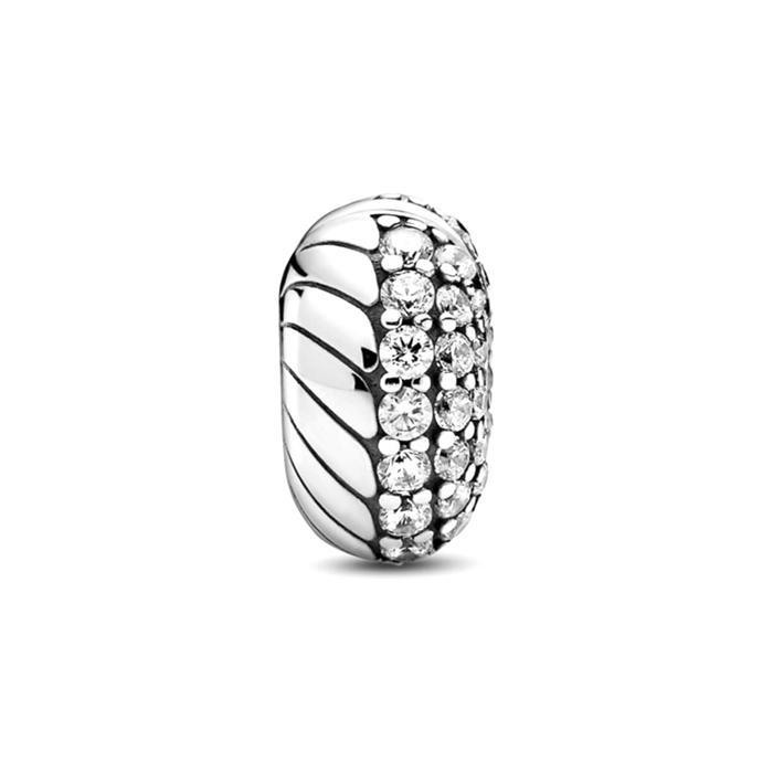 Clip Charm Schlangengliedermuster aus 925er Silber