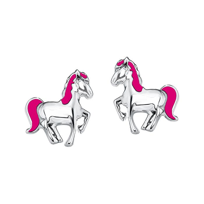 Ohrstecker Pferd aus Sterlingsilber für Mädchen