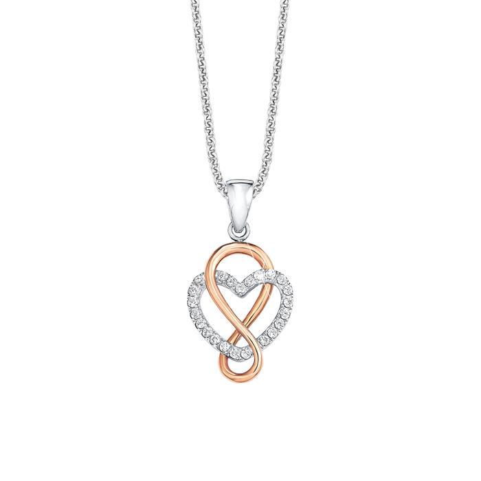 Kette Herz Infinity für Damen aus Sterlingsilber