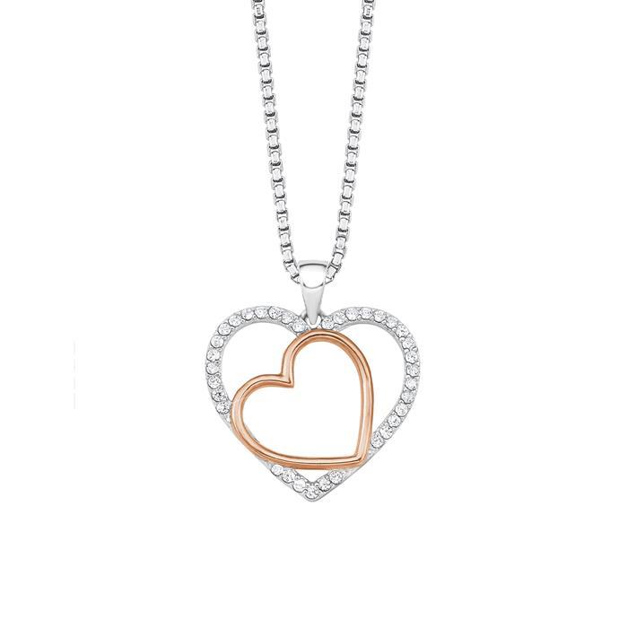 Halskette Herzen für Damen aus Sterlingsilber