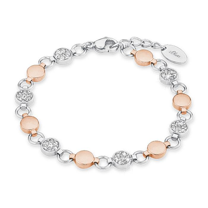 Armband für Damen aus Edelstahl, rosé
