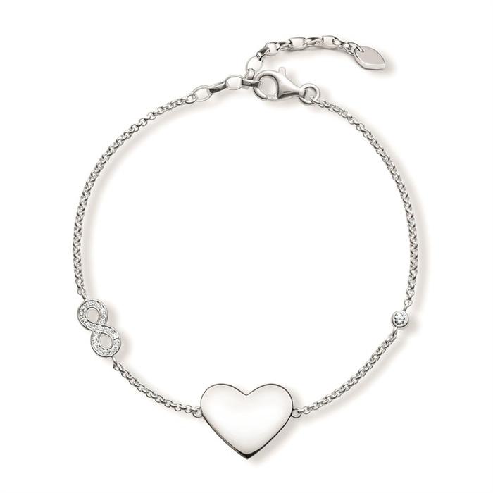 Armband Herz Infinity Gravur