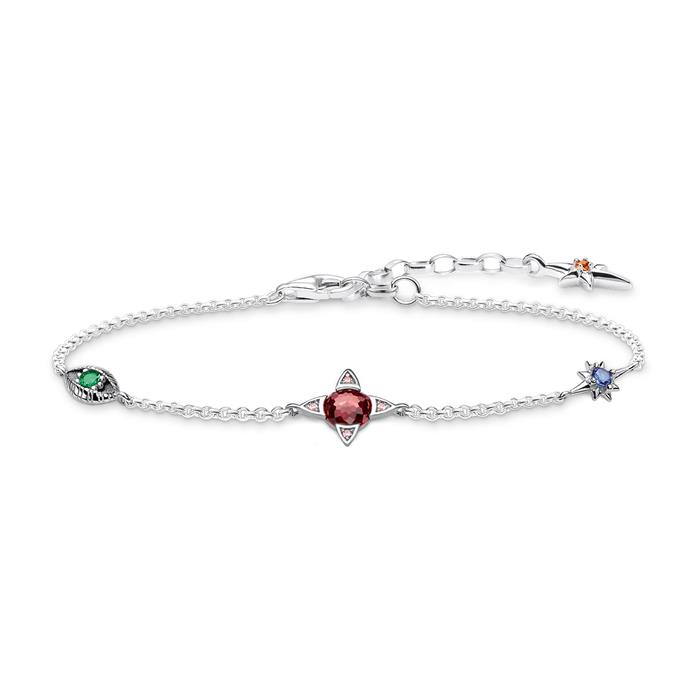 925er Silber Armband Kleine Glücksbringer für Damen