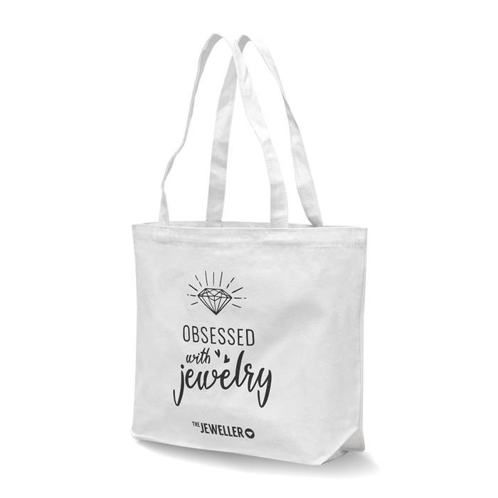 Canvas Shopper Obsessed with jewelry
