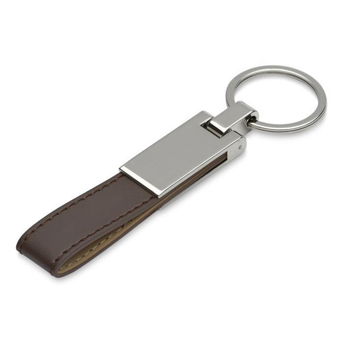 Dunkelbrauner Schlüsselanhänger gravierbar