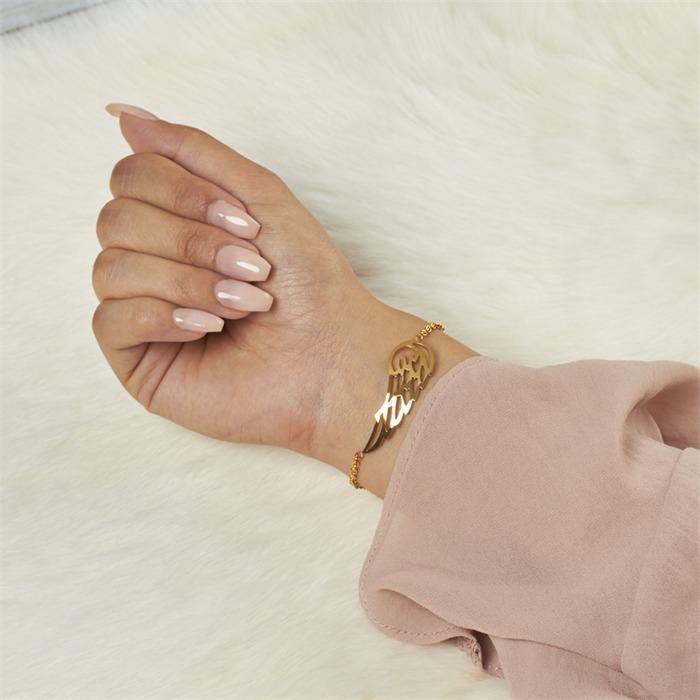 Stylishes Armband vergoldet mit Flügel