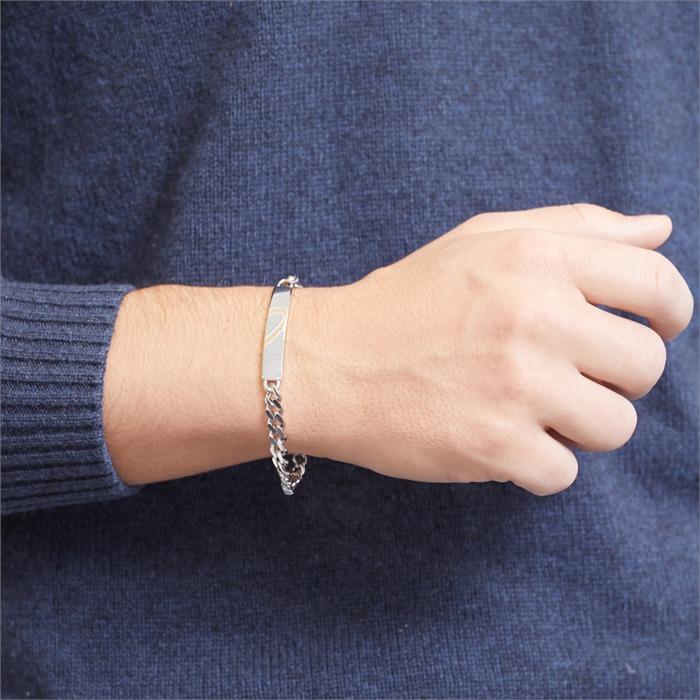 Gravierbares Edelstahl Armband Herz Set
