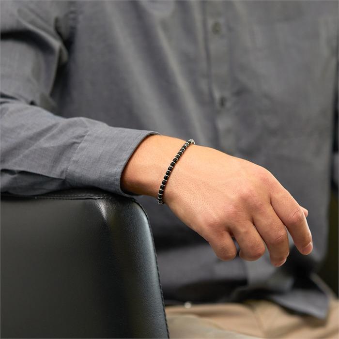 Armband aus Edelstahl und Achat