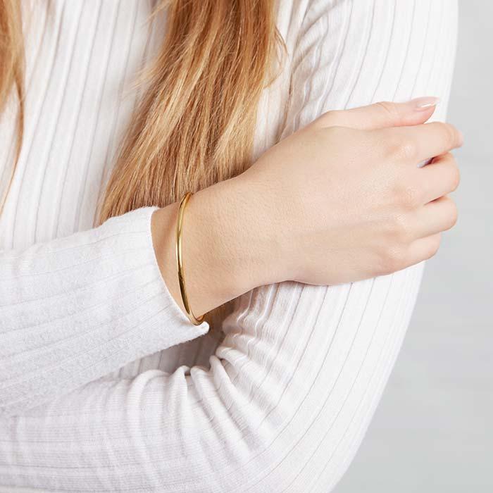 Offener Armreif aus vergoldetem Edelstahl