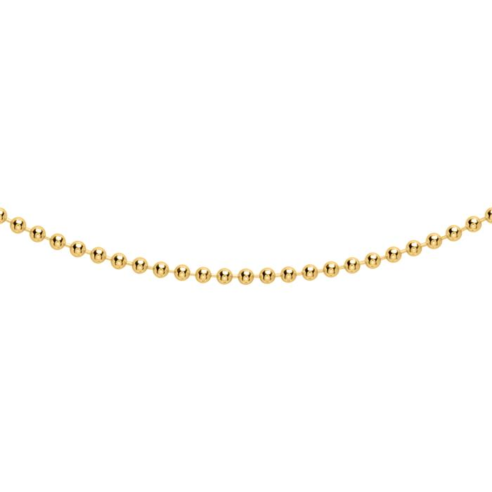 Kugelkette aus vergoldetem 925er Silber, 1,8 mm