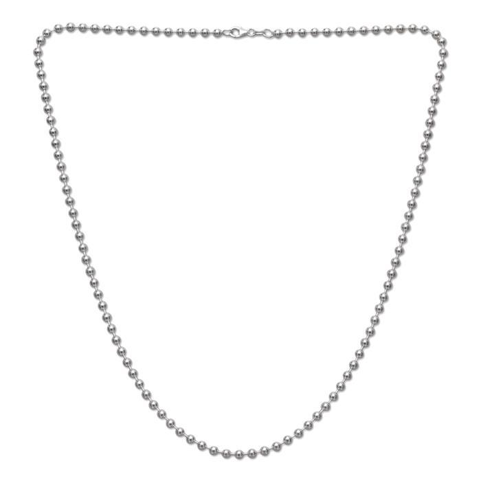 925 Silber Kugelkette 4,0mm