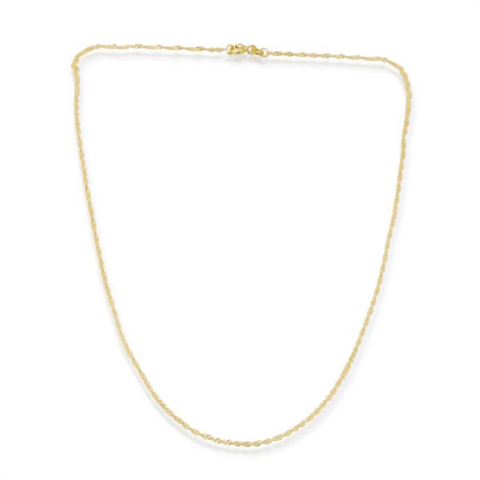 585er Goldkette: Singapurkette Gold 50cm