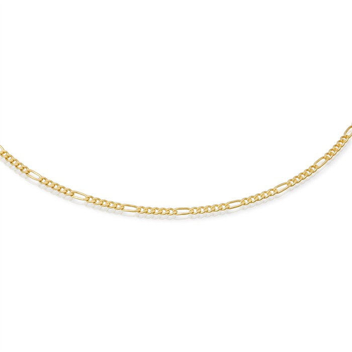 333er Goldkette: Figarokette Gold 50cm