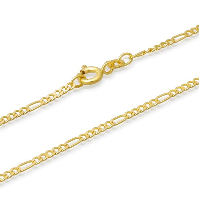 585er Goldkette: Figarokette Gold 50cm