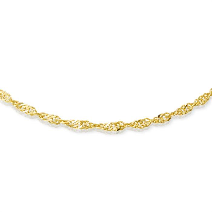 333er Goldkette: Singapurkette Gold 50cm