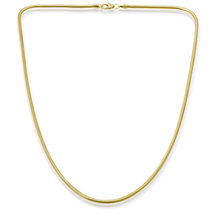 333er Goldkette: Schlangenkette Gold 45cm