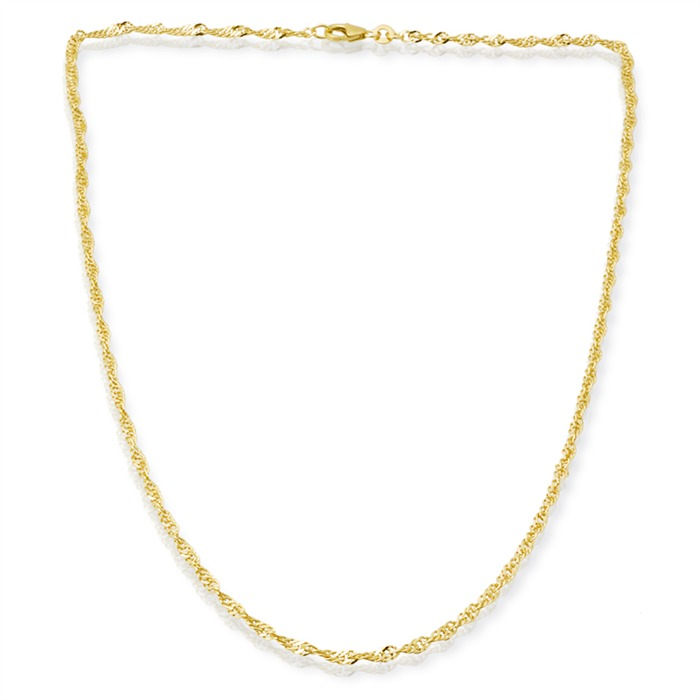 333er Goldkette: Singapurkette Gold 50cm