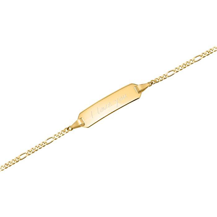 333er Goldarmband: ID-Armband Gold 16cm