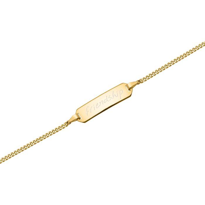 585er Goldarmband: ID-Armband Gold 16cm
