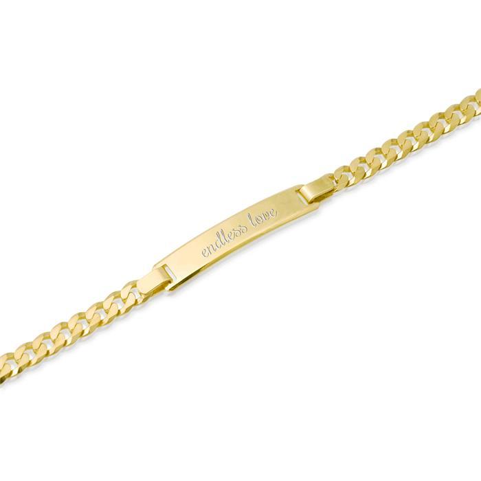333er Goldarmband: ID-Armband Gold 19cm