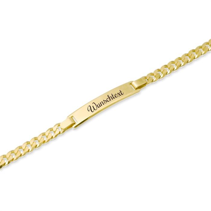 585er Goldarmband: ID-Armband Gold 19cm