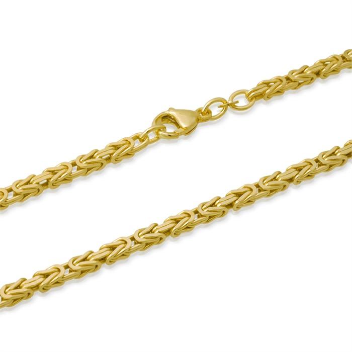 585er Goldarmband: Königsarmband Gold 21cm