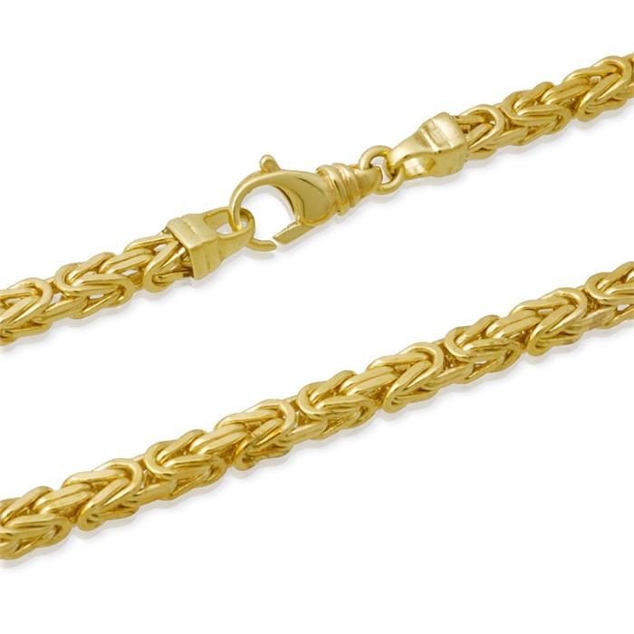 585er Goldarmband: Königsarmband Gold 19cm