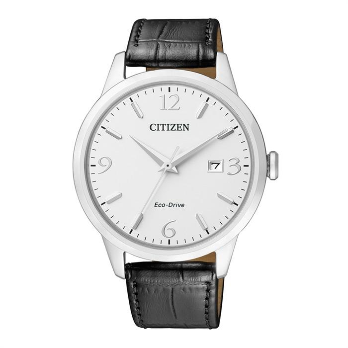 Elegant Uhr Herren Leder schwarz