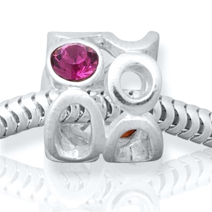 Moderner Silberbead: 925 Silber Bead Zirkonia
