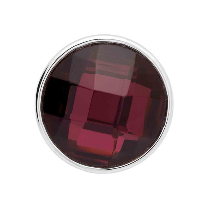 Button Glas facettiert Lila