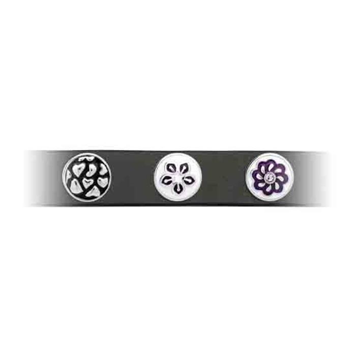 Button Emaille weiß-blaues Blumenmuster