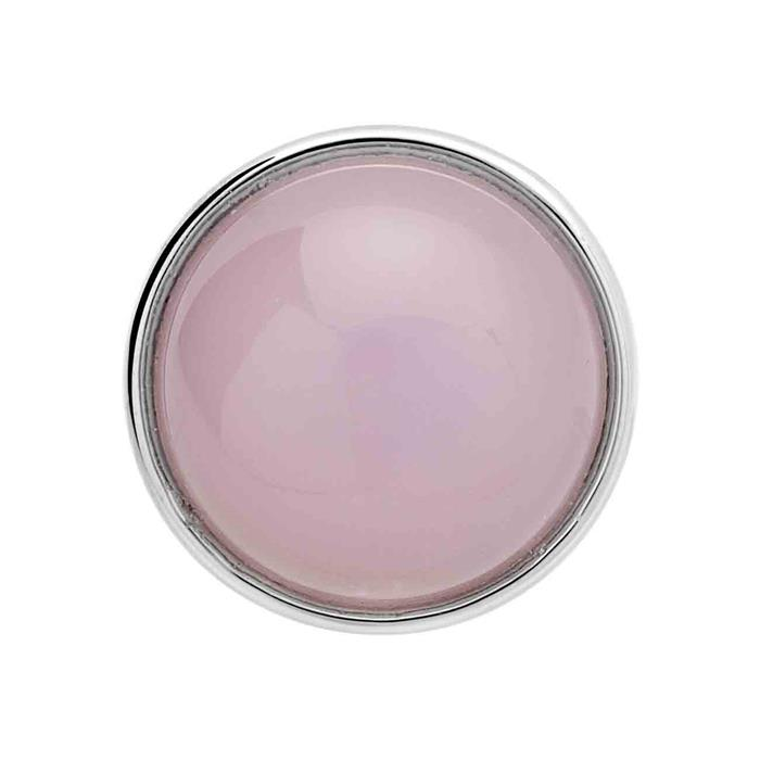 Button Glas rosa