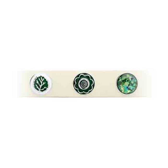 Button grüne Emaille Spirale