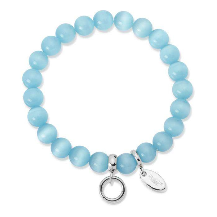 Charm Armband mit Perlen türkis 15,5 bis 19,5cm