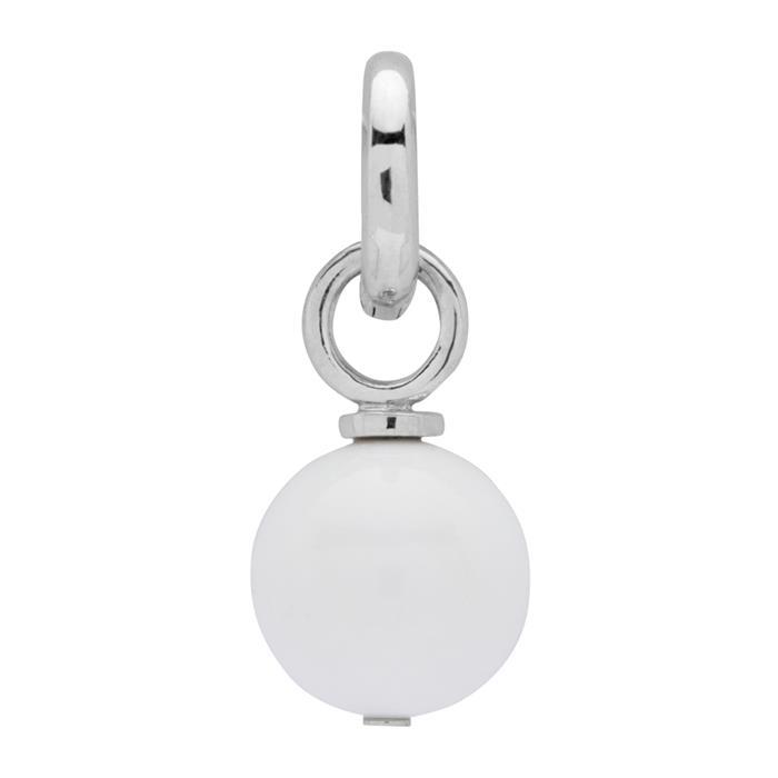 925 Silber Clip Charm mit Achat