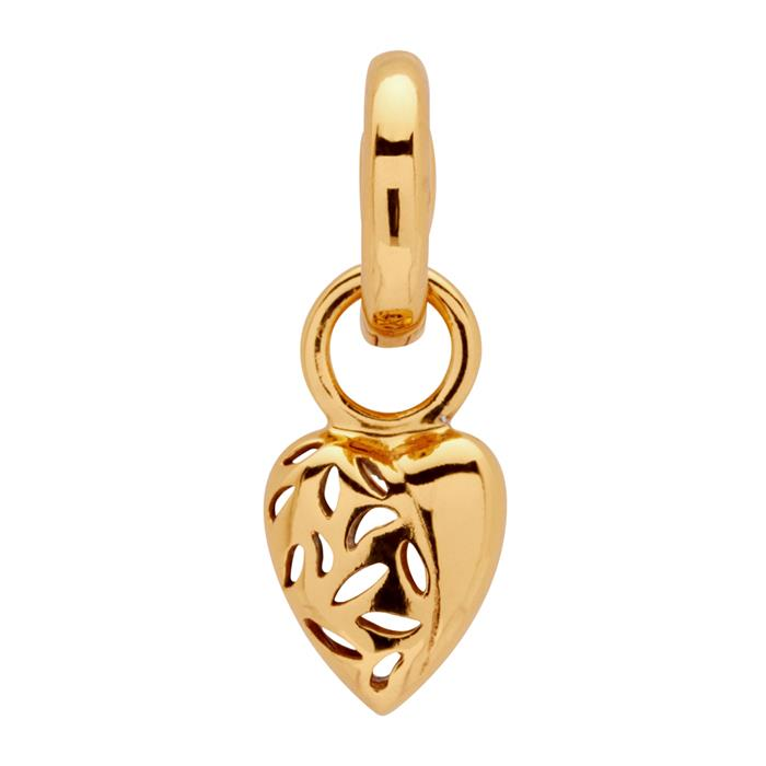 Vergoldeter 925 Silber Clip Charm
