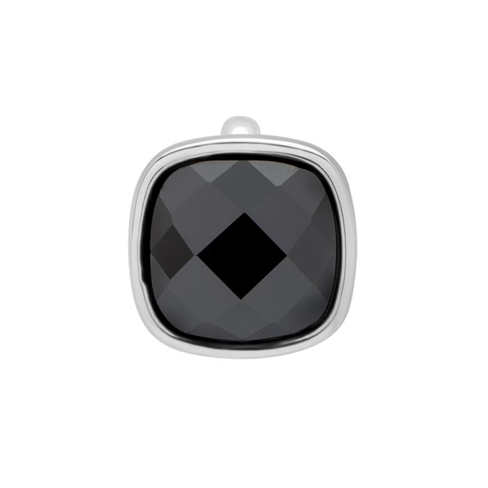 Clip Charm 925 Silber Zirkonia dunkler Zirkonia