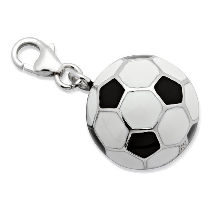Exklusiver Silber Fußball Charm zum Einhängen