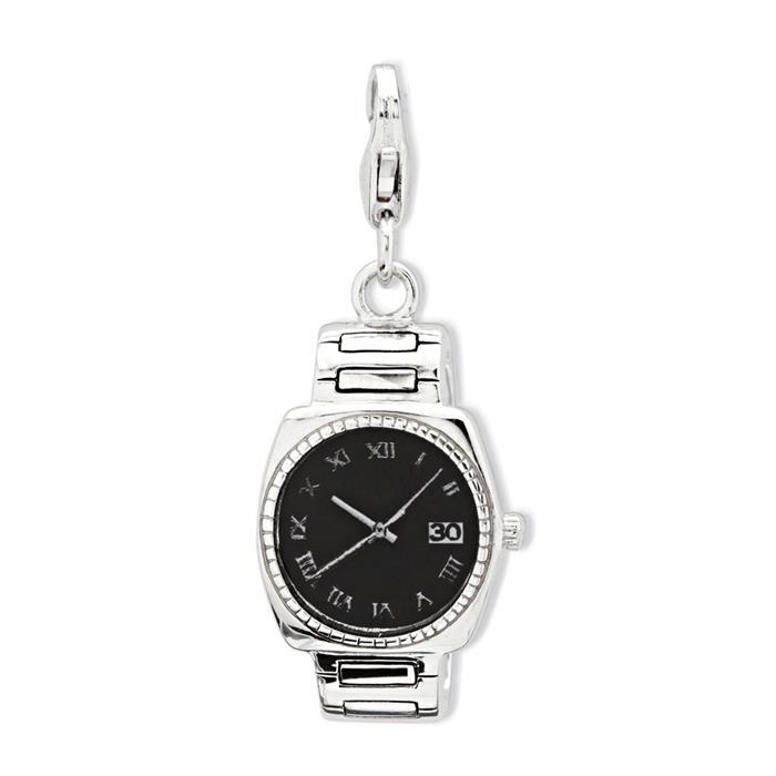 Exklusiver 925 Silber Charm Uhr zum Einhängen