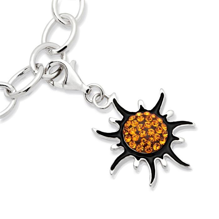 Exklusiver 925 Silber Charm Sonne zum Einhängen