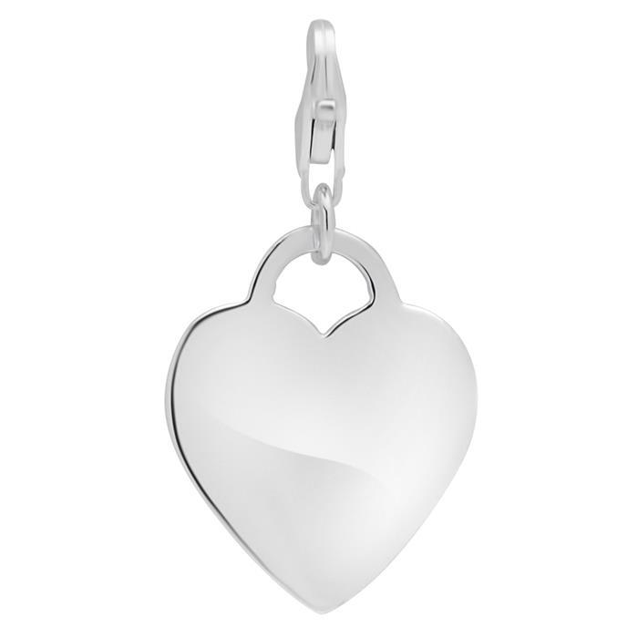 925 Silbercharm in Herzform