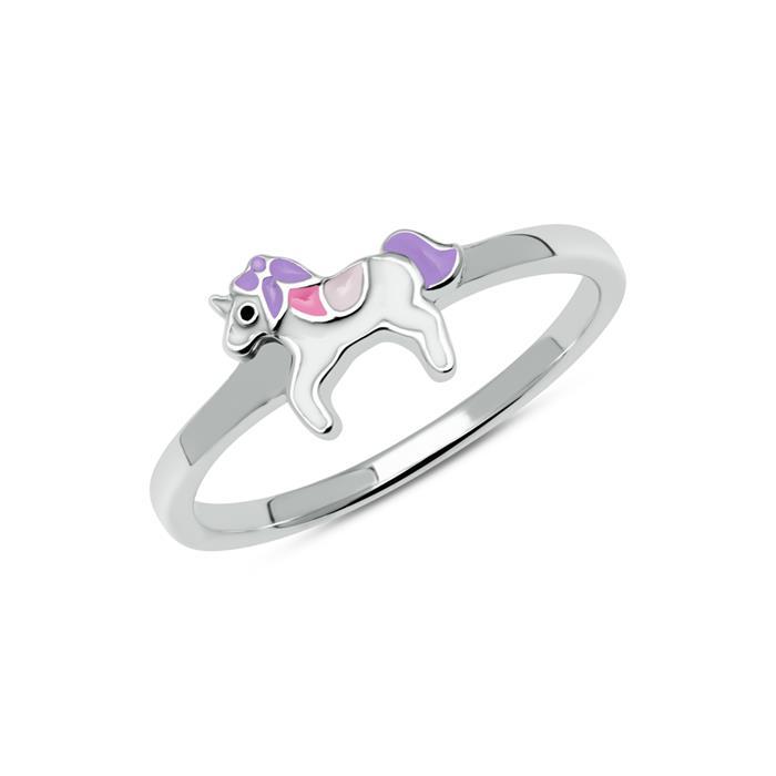 Einhorn Ring für Mädchen aus 925er Silber