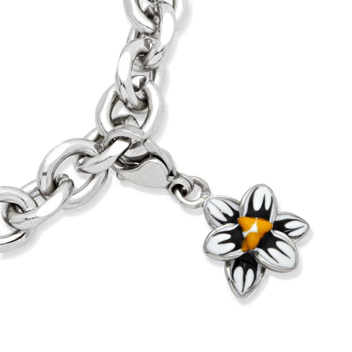 Edelstahl Charm Blume zum Sammeln & Kombinieren
