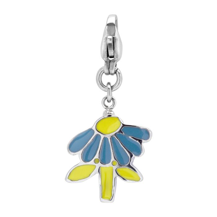 Charm aus Edelstahl in Blumenform