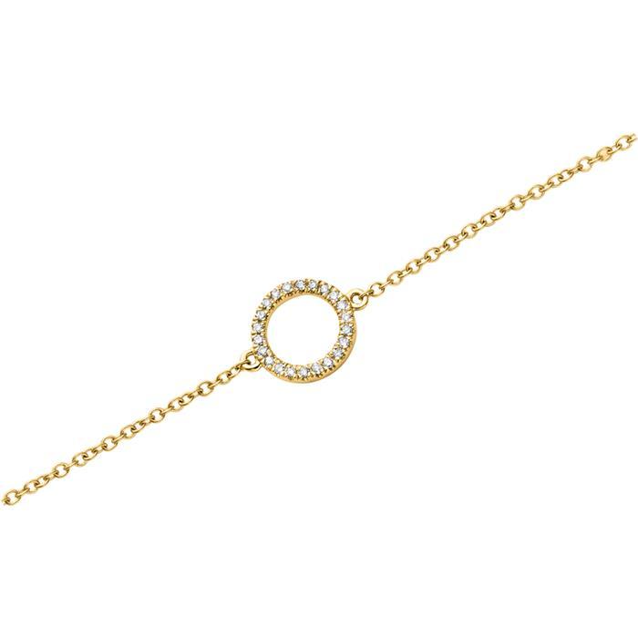 Armband 750er Gelbgold 22 Diamanten 0,07 ct.