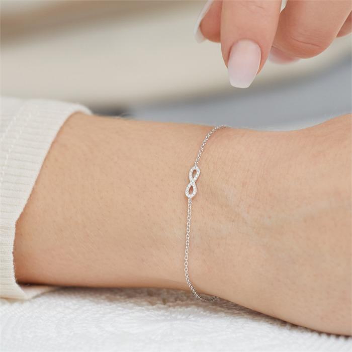 Armkette 750er Weißgold 22 Diamanten 0,05 ct.