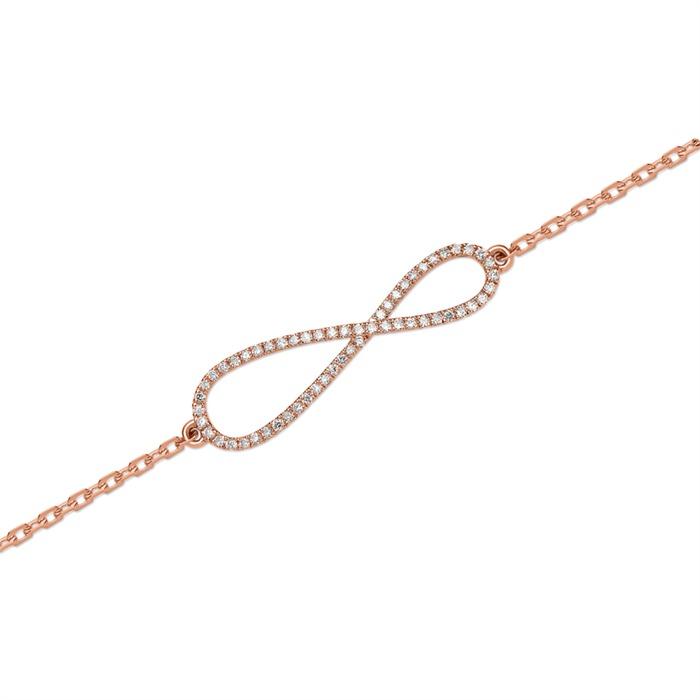 Armband 750er Roségold 57 Diamanten 0,16 ct.