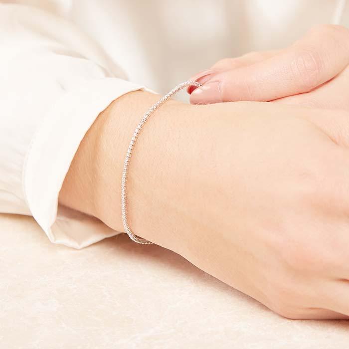 Armband aus 750er Weißgold mit 116 Diamanten