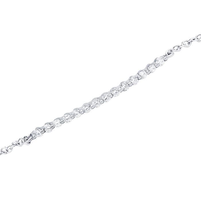 Armband 585er Weißgold 14 Diamanten